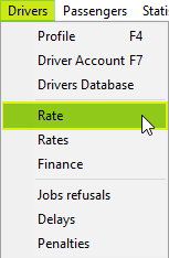 Driver Rate