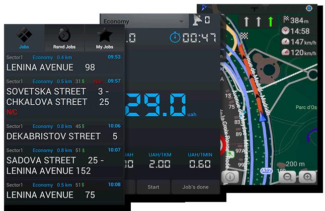 Taxi software Driver app